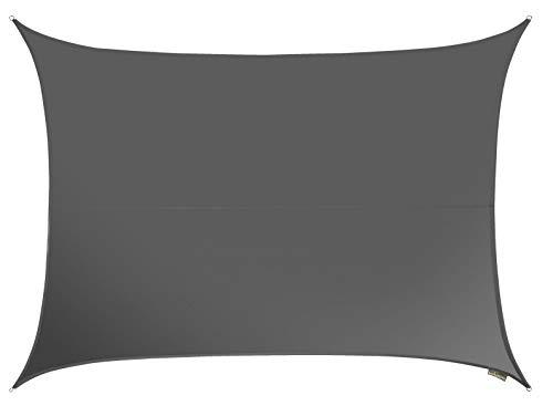 Kookaburra - Tenda parasole in fibra di carbonio, impermeabile, 160 g/m², in poliestere, protezione solare, blocca 98{0ae49a38cbbcd62fc198649070a04904467f5bdc811f1ece0be257305ed93f67} raggi UV, per giardino, terrazza, balcone (Rectangle 4,0 x 3,0 m)