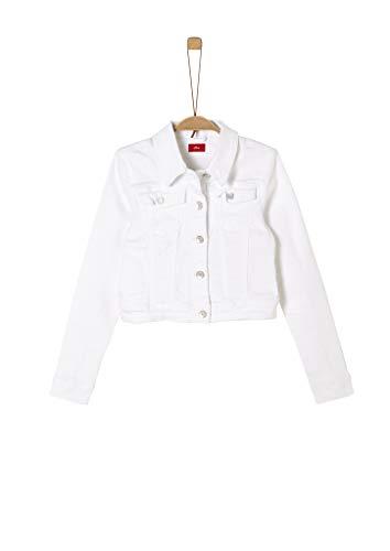 s.Oliver RED Label Mädchen Coloured Denim-Jacke White L
