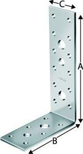 Simpson AG40414 Winkelverbinder AG 40414 feuerverzinkt mit Zulassung