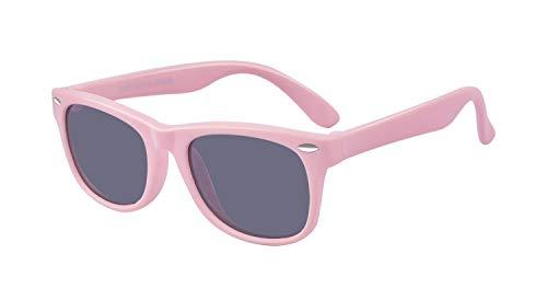 Outray Kinder-Sonnenbrille, polarisiert, UV-Schutz, modisch, bequem, für Jungen und Mädchen, Alter 3–10 Jahre Gr. M, rose