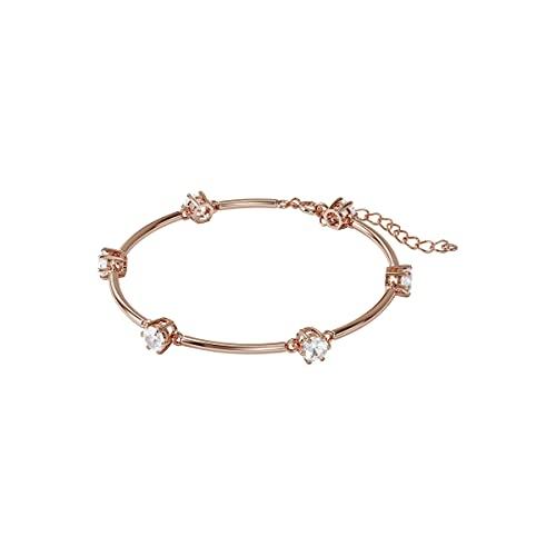 Swarovski Brazalete Constella, Blanco, Baño tono oro rosa