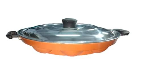 Sjeware Non-Stick Aluminium Appam Patra 12 Cavity, Red