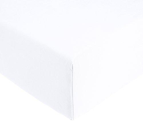 Amazon Basics AB 200TC Cotton - Light, 100% Baumwolle, Weiß, 90 x 200 x 30 cm