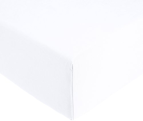 Amazon Basics AB 200TC Cotton - Light, 100% Baumwolle, Weiß, 90 x 200 x 30 cm