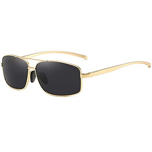 ZHSGV Gafas de sol cuadradas para hombre, polarizador de metal, retro, para deportes al aire libre, gafas de ciclismo, multicolor (color: D, tamaño: -1)
