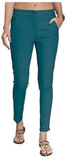 NAARI Women 100% Cotton Ankle Length Cigarette Pants - Slim Fit - 2 Pockets