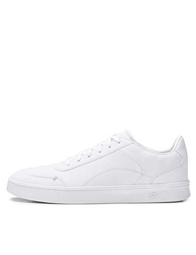 CARE OF by PUMA knöchelfreie Sneaker für Herren aus Leder, Weiß, 42 EU