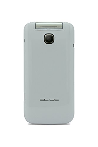 Slide 1.8' Dual SIM Unlocked Flip Phone, Quad-Band 2G Compatible with All GSM Networks Worldwide - White (FL3002)