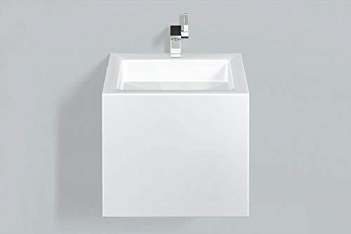 Alape Waschtisch WT.QS450HX, rechteckig B: 450mm H: 420mm T: 500mm, 4278000000, weiß - 4278000000