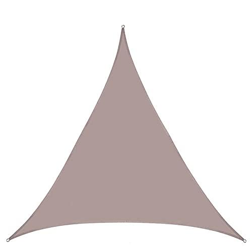 JNWX Toldo impermeable triangular, tela Oxford, exterior, protección UV, protección solar, toldo, toldo de sombra, muy adecuado para patio al aire libre, jardín, patio trasero (4 × 4 × 4 cm, marrón)