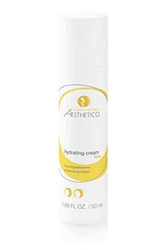AESTHETICO hydrating cream - 50 ml - Feuchtigkeitscreme für normale und empfindliche Haut mit Hyaluronsäure und nat. Lipiden, gute Make-up Grundlage