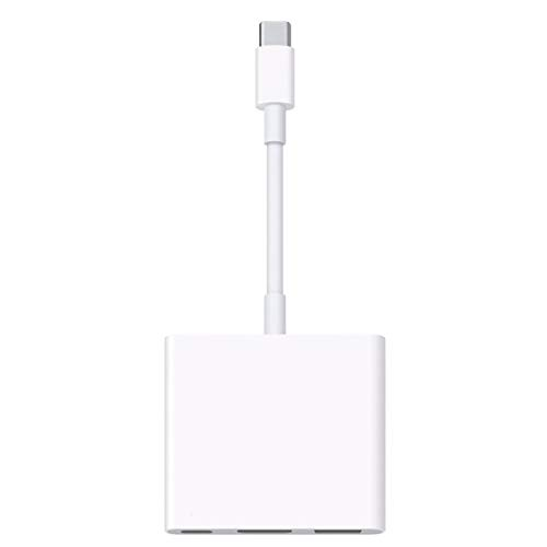 YXDS Exquisitamente diseñado Duradero para Apple USB-C Adaptador multipuerto AV Digital USB-C Accesorios Digitales Blanco