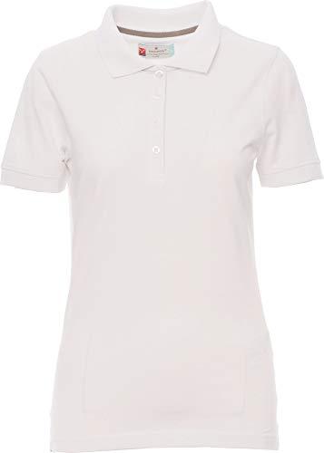 PAYPER Damen Polohemd Venice 100% Baumwolle Kurzarm 4 Knöpfe Nackenband, Farbe:White;Größe:S