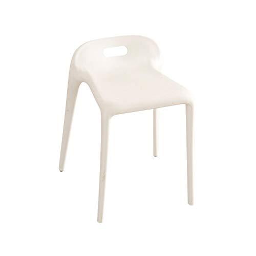 MMAXZ Juego de 4 sillas de Comedor de Cocina Sillas Laterales de Tela con Cojines robustos para la Cocina en casa Sala de Estar (Color : White)