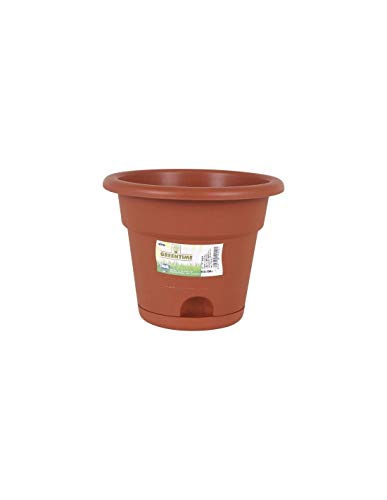 Greentime Eco 54763 Maceta Con Plato, 45 Cm