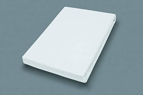 Premium Jersey Split-Topper Hoeslaken met elastaan | wit | 180-200 x 200-220 cm 180-200 x 200-220 cm