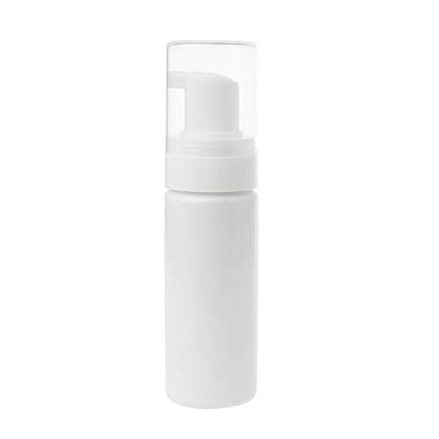 食器棚ラベル一見TOOGOO 1個50ml キャップ付き発泡ボトル泡ポンプせっけんムース液体ディスペンサー泡ボトルプラスチックシャンプーローションボトル(ホワイト)