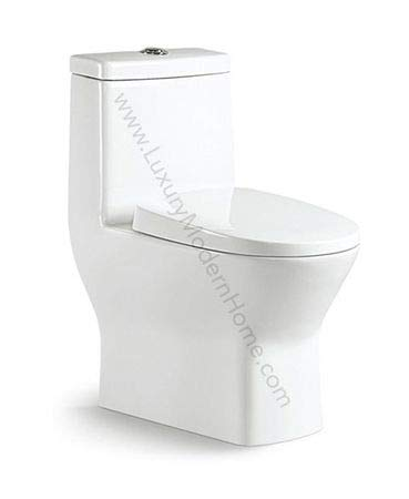 CARUS TOILET - 23.5' long x 13.5' wide x 27.5' high inch One Piece Short Compact Bathroom Tiny Dual Flush Shortest Projection SMALLEST