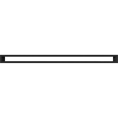 Rejilla Kratki Tunel negra 6 cm x 100 cm,rejilla de ventilación alargada.