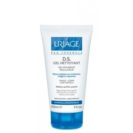 Uriage D.S. Gel Nettoyant Regulation Foaming Gel for Skin Prone to Irritations, Redness and scales 150 Ml by Uriage