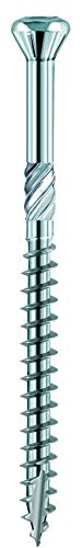 Terrassenschrauben, Holzschrauben und Fassadenschrauben Hapatec Torx Edelstahl gehärtet Rostfrei von Nordje® für Terrassendielen mit extra kleinem Schraubkopf (5x60mm 200 Stück)