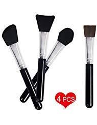 Face Mask Brush Clay Mask Brush, MOYOON Mud Mask Applicator Brush Set Silicone Facial Mask Brush Makeup Beauty Tool For Applying Facial Mask, Eye Mask,Peel, Serum Or DIY - 4 PCS