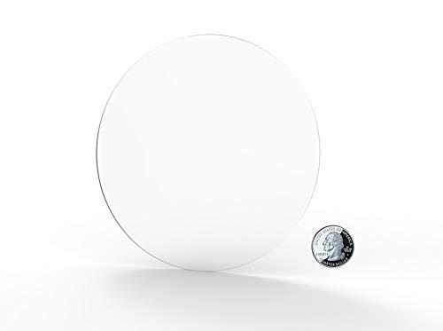 "FixtureDisplays 1PK 10"" Clear Acrylic Plexiglass Lucite Circle Round Disc, 1/8"" Thick 18822-10""-1/8""-SNL Listing"