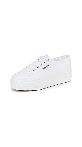 Superga womens 2790 Acotw Platform Fashion Sneaker, White, 6 US