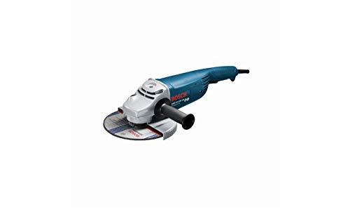 Bosch Professional 0601884M03 Smerigliatrice Angolare GWS 24-230 JH con Limitatore di Spunto alla Partenza, Protezione Contro Il Riavvio Accidentale, 2400 W, 230 V, Blu/Nero