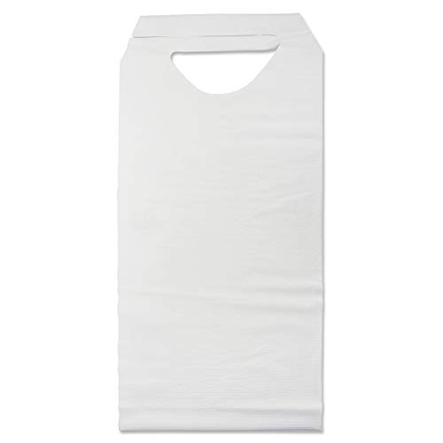 """Medpride Disposable Adult/Elderly Bibs For Spill Protection  300 Pack, 16"""" x 33""""  Long, Comfy, Overhead, Tie-Back Design  High Absorption, Soft w/Leakproof Polymer Layer  Easy Put-On, Take-Off"""