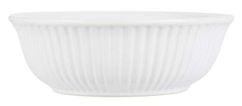 IB Laursen - Servierschale Mynte Pure White - Steingut - H7,3 x Ø21,5 cm
