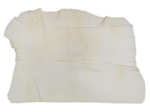 Pelle di Daino per Auto 50X60cm,Panni Asciugatura Auto,Spugna Camoscio Scamosciata,Forma Irregolare