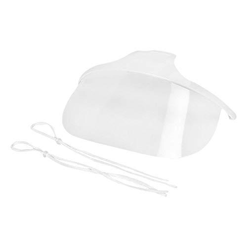 Winkey 10x Wiederverwendbare Kunststoff-Hygienemasken transparent permanent Antibeschlag-Kit 10 Stück Kunststoffmasken