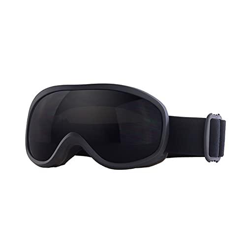 CYYS Gafas de conducción esférica Anti-Niebla de Doble Capa, Gafas de Montar a Caballo de la Motocicleta de Fondo, Adecuado para el Casco Adulto Compatible