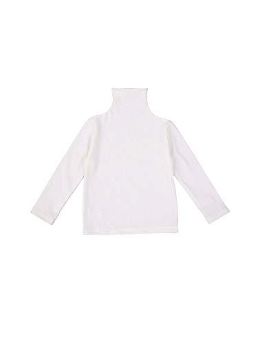 Carolilly Langarm Top Baby Mädchen Pullover Strickoberteil Mädchen Sweatshirt Herbst Winter (weiß, 2-3 Jahre)