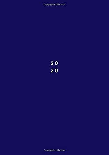 2020: Agenda giornaliera 2020 A4, due pagine per giorno, 21x29,7 cm, Agenda professionale 2020, colore: blu