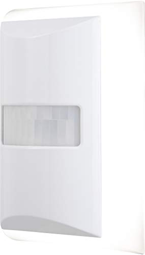 GE 36268 CoverLite LED Night Light, 1 Pack Motion-Boost, Plug-In, Dusk to Dawn, Up to 60 Lumens, Ideal for Bedroom, Bathroom, Hallway, Kitchen, Office, White
