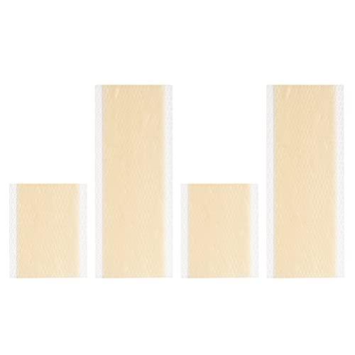 Hemoton 4 Hojas de Silicona para Cicatrices Parche de Eliminación de Cicatrices Parche para Heridas Quemaduras Pegatina para Cicatrices Tiras de Silicona para Cicatrices Color Piel
