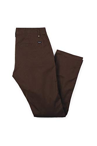 Brixton mens Reserve Standard Fit Chino Casual Pants, Brown, 36 US