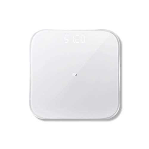 Xiaomi Mi Scale - Smart, báscula con Bluetooth, vidrio, blanco, led