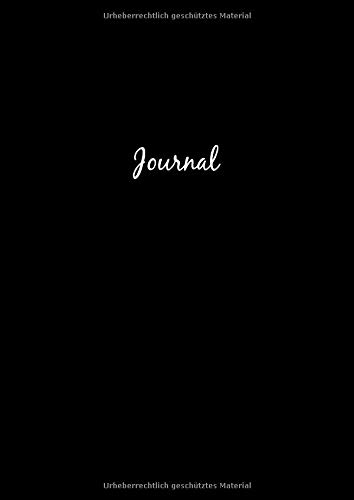 Dot Grid Journal A4 Notizbuch: Blanko Heft Für Bullet Journaling | Dotted Notebook | 110 Punktraster Seiten | Schwarz