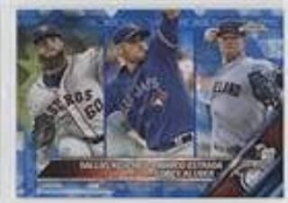 Corey Kluber; Dallas Keuchel; Marco Estrada #/250 (Baseball Card) 2016 Topps - [Base] - Box Set Chrome Sapphire Edition #346