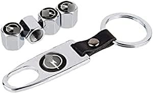 4 Piezas de Tapas para Válvulas para Opel Insignia Astra G H J Corsa D Mokka Zafira Vectra B Meriva Combo, Tapones de Rueda de Alta Calidad Sellado Hermético Car Styling Decoración Accesorios