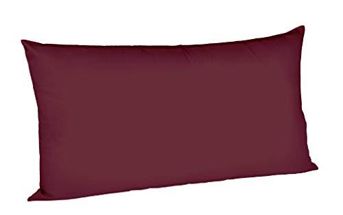 fleuresse 9100-4074 Taie d'oreiller 100% coton égyptien satiné Prune 40 x 80 cm