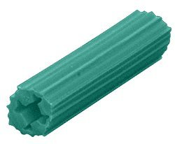CRL 1/4' Hole, 1-1/4' Length 10-12 Screw Expanding Plastic Green Screw Anchors Pack of 100 by CR Laurence