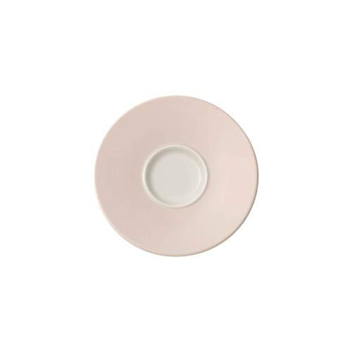 Villeroy & Boch Caffè Club Uni Pearl Sous-tasse à Moka/Expresso 12 cm, Porcelaine Premium, Blanc/Rose