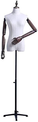 JYHW Tienda de ropa Modelo Props Mujer Busto Paño Triángulo Hierro Base...