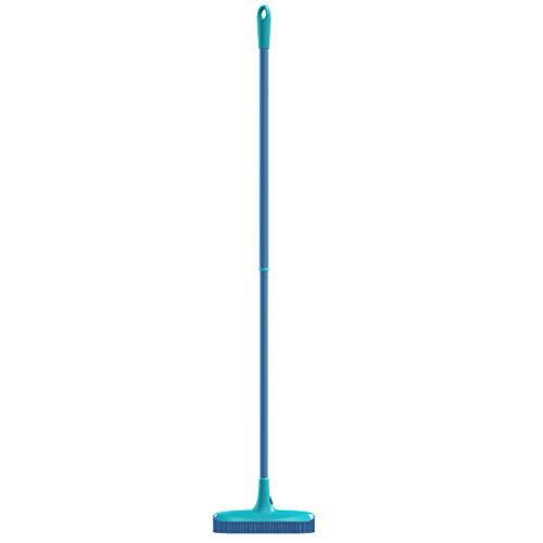 Spontex Catch & Clean, Kehrbesen mit Gummiborsten, Teleskopstiel und praktischem Auffangbehälter, hygienische und effiziente Reinigung für alle Bodenbeläge, 1 Set - 16