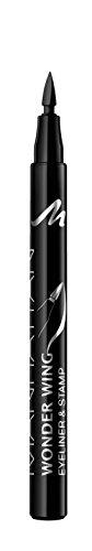 Manhattan Wonder Wing Eyeliner & Stamp, Schwarzer Stempel Eyeliner für einen Idealen symmetrischen Lidstrich, Farbe Black 001, 1 x 1.6ml