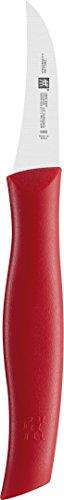 Zwilling 38600050 Twin Grip Schälmesser, Friodur Klinge, Griff: Kunstoff, 50 mm, rot